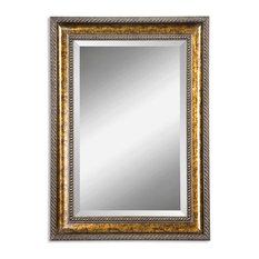 Bathroom Mirror Gold gold bathroom magnifying mirror bathroom mirrors | houzz