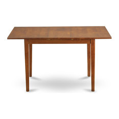 """Picasso Table, 32""""x60"""" With 12"""" Butterfly Leaf, Saddle Brown"""