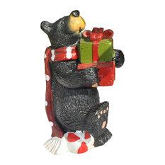 Christmas Bear, Jolly for Miniature Garden, Fairy Garden