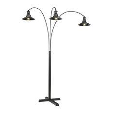 """Sheriel Black 83"""" Metal Arc Lamp"""