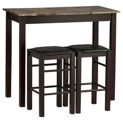 Ideal Traditional Indoor Pub And Bistro Sets by Linon Home Decor Products