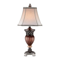 "32""H Roman Bronze Collection- Decorative Table Lamp"