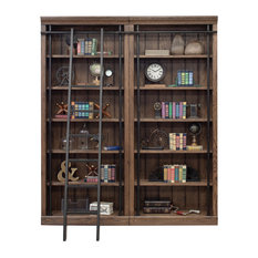 Avondale 2 Wall Bookcase With Ladder, Oak