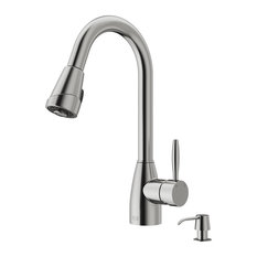 VIGO INDUSTRIES   VIGO Pull Out Spray Kitchen Faucet, Stainless Steel, With  Soap