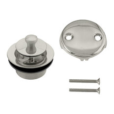 Twist & Close Tub Trim Set With Two-Hole Overflow Faceplate In Satin Nickel