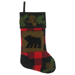 Rustic Christmas Stockings And Holders by Glitzhome