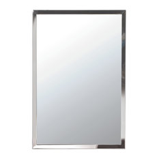 "Urban Steel 1"" Decorative Mirrors, Polished, 24""x36"""