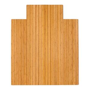 """Jovert Bamboo Roll-Up Chair Mat, Natural, With Lip, 44""""x52"""""""