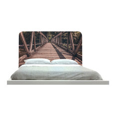 -inchWooden Bridge-inch Headboard
