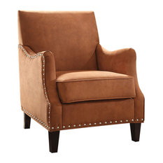 Superbe Residence   Ezra Accent Chair, Orange   Armchairs And Accent Chairs
