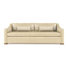 Crosby 7' Leather Sofa, Oyster, Classic Depth