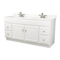 Dhi Corp Concord White Gloss Vanity Cabinet With 2 Doors And 4