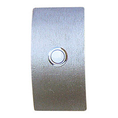 Arc Bell Plate With Button, Black Iron