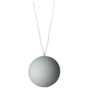 Anne Black Matte Ball Ornament, Jade, Large