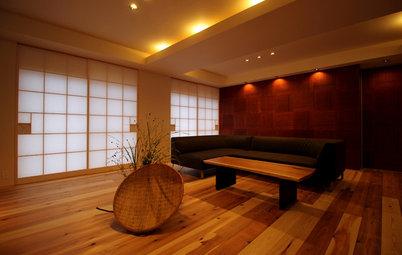 Houzzツアー:和紙に包まれた、美しく年を重ねる家