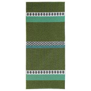 Savanne Woven Floor Cloth, Green, 150x200 cm