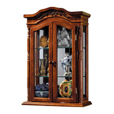 Beacon Hill Hardwood Wall Curio Cabinet