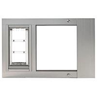 "Endura Flap Pet Door, Thermo Sas, Small 6""x11"", Silver, 28-31"" Wide Range"