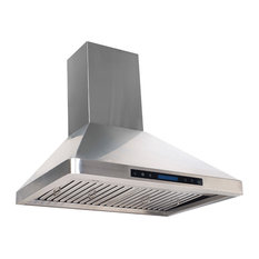 Home Beyond Stainless Steel Range Hood With 4 Speed Touch Control and Remote