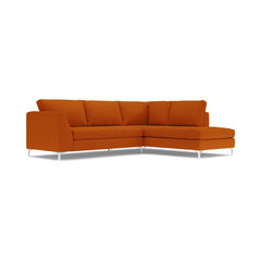 mulholland 2 piece sectional sofa sweet potato chaise on left orange sectional sofas - Chaise Orange