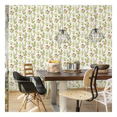 Watercolor Botanical Cactus Wallpaper, Yard
