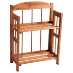 Lavish Home - 2-Shelf Bookcase with Cedar Finish by Lavish Home - This 2 Shelf Bookcase by Lavish Home will bring rustic charm to any home.