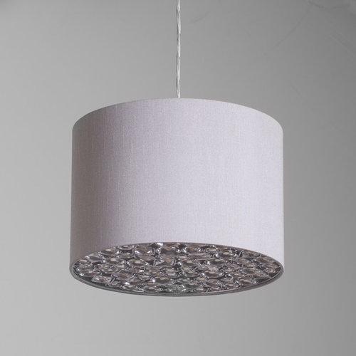 Ballagio easy fit light shade from litecraft ballagio easy to fit ceiling light shade silver lamp shades aloadofball Choice Image