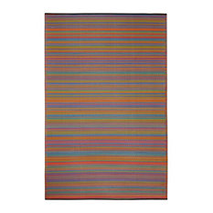 Awesome Fab Habitat   Fab Habitat Indoor Outdoor Recycled Plastic Rug, Cancun,  Multicolor, 5