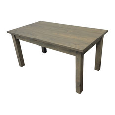 Long Wood Top Dining Room Tables Houzz