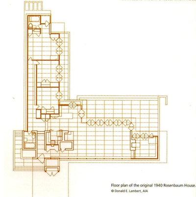Contemporary Floor Plan Rosenbaum House