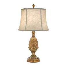 Stiffel Polished Honey Brass Stiffel Table Lamp