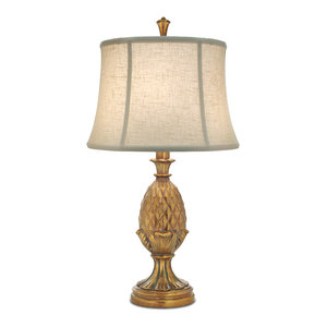 Stiffel Polished Honey Brass Stiffel Table Lamp