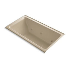"""Kohler Tea-For-2 66""""x36"""" Alcove Whirlpool With Right-Hand Drain, Mexican Sand"""
