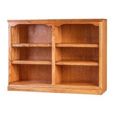 Traditional Oak Bookcase, Golden Oak, 30h