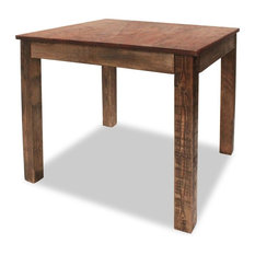 VidaXL Dining Table 32.3-inch Solid Reclaimed Wood Rustic Room Stand Deck Couch