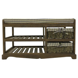 Rustic Accent & Storage Benches by Mobili Rebecca
