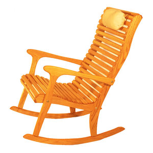 Hockey Stick Log Rocker Eclectic Rocking Chairs By