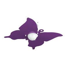 Butterfly Ceiling Lamp, Purple