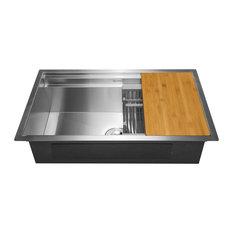 """AKDY Home Improvement - AKDY 33""""x22""""x9"""" Undermount Handmade Stainless Steel Kitchen Sink - Kitchen Sinks"""