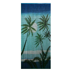 Bamboo54   Carribean Palms Curtain   Curtains