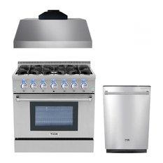 36 Inch Gas Range Thor Kitchen 3-piece Bundle, Natural Gas