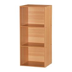 Hodedah 3 Shelf Bookcase in Beech