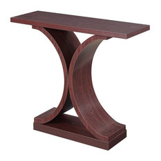 Convenience Concepts Newport Infinity Console Table, Mahogany