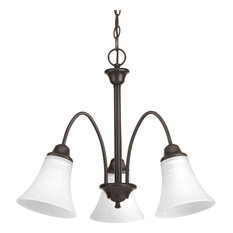 Tally 3-Light Chandelier Antique Bronze Etched White Linen G