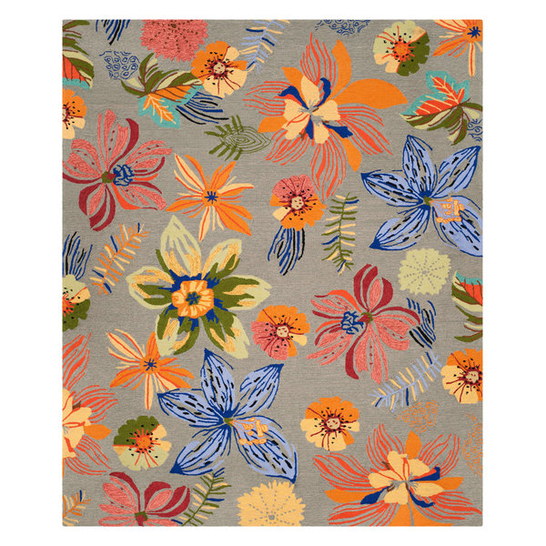 Safavieh Wildomar Rug, Gray and Orange, 5'x7'