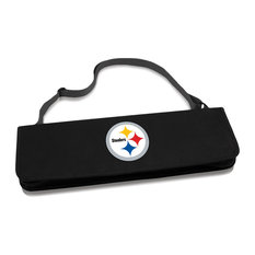 Picnic Time - Pittsburgh Steelers Metro BBQ Tote & Tools Set, Black - Grill Tools & Accessories