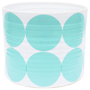 Large Spots Bowl, Turquoise