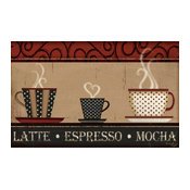 Latte, Espresso, Mocha Palette, Without Kitchen Installation Kit, Tile Mural