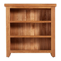 Traditional Low Oak Bookcase