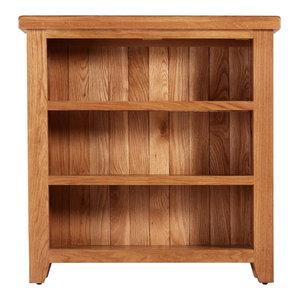 Traditional Low Oak Bookcase